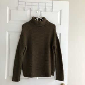 Olive green turtle neck sweater